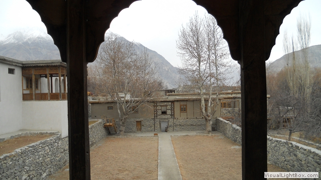view from khaplu fort balcony